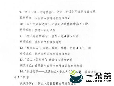 云南文化旅游线路产品大赛结果出炉,普洱两条线路获奖!